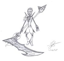 demon with time scythe by SonicEdge7