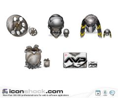 Alien vs Predator Vista Icons by Iconshock