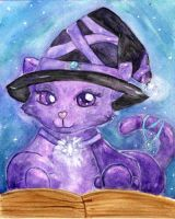 Purple Witchy Cat Starrydance by Starrydance