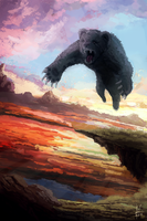 Digital painting: 'Attack of the teddy ' by dallidallsen