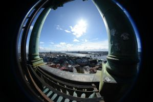 Riga from above by Wunderling
