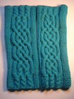 Celtic knitting for arm 2 by XaelMcEwan