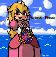 Wind Waking Princess Peach by MisterIngo