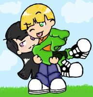 Carrying Kuki by Lillyfan123