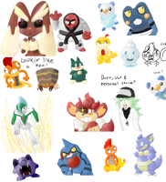 Pokemon iScribble Dump 2 by Koko-Kat