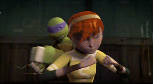 (GIF) Showdown: Donnie + April dance by LumosLightning
