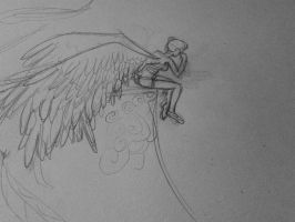 angel sketch (wip)  by fuzzybuggy1996