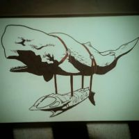 whale sub by Graucus