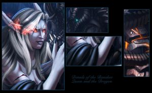 Details of Sylvanas and Neltharion by Ghostwalker2061