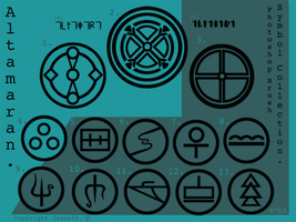 P'shop brushes:Altama symbols by Jesseth