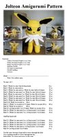 Jolteon Amigurumi Pattern by MaiStashio