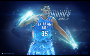 BRING THE THUNDER I Kevin Durant wallpaper by RafaelVicenteDesigns