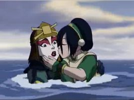 Avatar: Toph Yuri Kiss by frankrr14