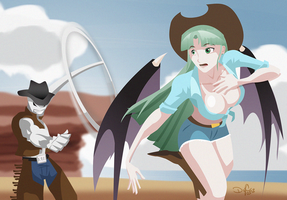 Capcom Roundup! Morrigan vs Twelve by digital-vox