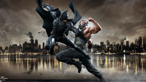 Batman Vs Bane by DavidCreativeDesigns