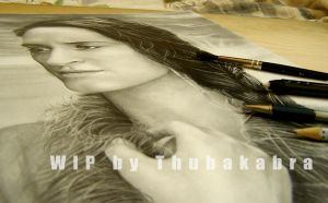 Native American girl cover art - Work in Progress by Thubakabra