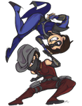 ChibiCom- The Outlaw and The Bandit by ElectricEidolon
