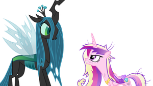 Now featuring, CHRYSALIS AND CADENCE! by theklocko