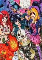 Fairy Tail Halloween by Nelhime