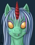 MLP Anthro - SafeSleep headshot - gift by FunkyBacon