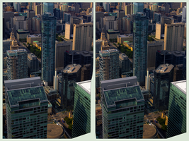 Toronto from atop 3D ::: HDR by RAW CrossEye by zour