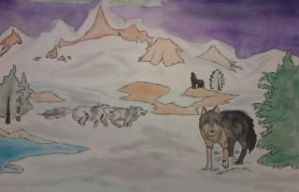 wolves in the tundra by silentcamellia