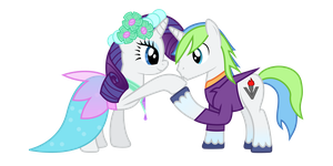 Rarity and Skylark (May I have this Dance) by Skylark-Torch