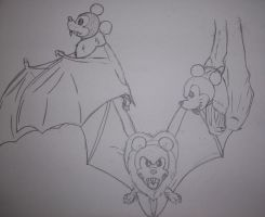 Vamp-Bat Mickey Mouse Sketches by LadyHexaKnight