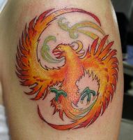 phoenix orange by primitive-art
