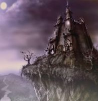 house on the hill by dypsomaniart