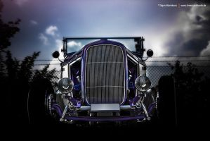 Ford Hot Rod Front by AmericanMuscle