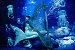 The Mermaids Harp by babsartcreations