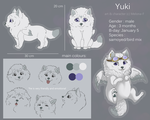 Yuki ref-sheet by Melona-F