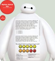 Baymax Journal Skin by A-queenoffairys