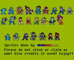 Capcom SuperStars in Classic Sprite Style by MegaRed225