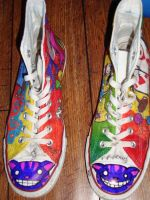 Alice in Wonderland Shoes: 4 by underneath-the-paint