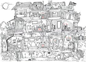 Haunted house plan by Granitoons