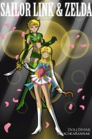 Link and Zelda as Sailor Scouts by Angel-of-Love