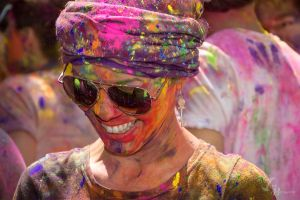 Holi Festival Smile by Jonathan-Flash