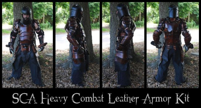 SCA Heavy Combat Leather Armor Kit - Full by Epic-Leather