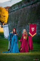 Catelyn and Cersei by fabiohazard