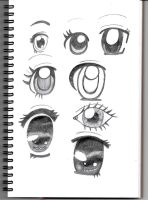 Eye See You... (Eye Technique Sketch Dump) by Penguinanthrogirl99