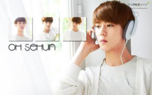 Sehun Faceshop Wallpaper by KpopGurl