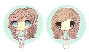 Flower Chibi Adopt+EXTRA (SOLD) by mochatchi