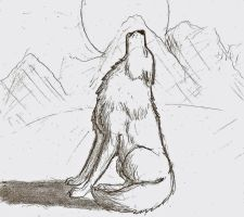 Howling Wolf by Jhumperdink