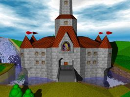 Super Mario 64 Castle Grounds by yoshielectron