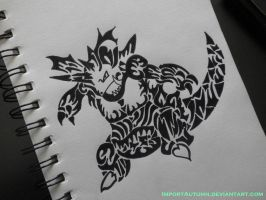 TRIBAL NIDOKING -Watch me draw this on Youtube! by ImportAutumn