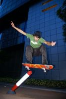 Skateboarding by aende