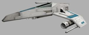 Star Wars E-Wing (front-3/4) by Augos