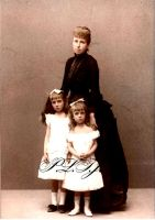 Queen Regent Maria Christina and daughters by Linnea-Rose